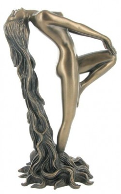 Picture of Female Nude with Long Hair Bronze Sculpture