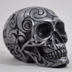 Picture of Gun Metal Celtic Design Small Skull