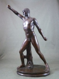 Picture of Olympian Bronze Statue Male 64 cm