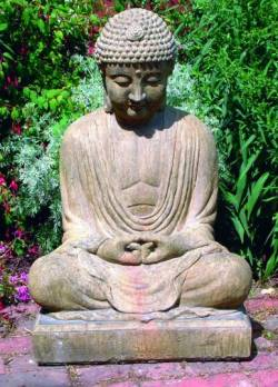 Picture of Meditating Buddha Stone Statue