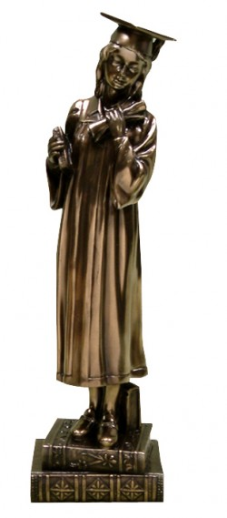 Picture of Female Graduation Bronze Figurine (Juliana)