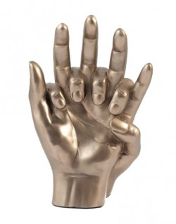 Picture of Hands Entwined Bronze Sculpture