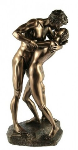 Picture of Naked Couple The Kiss Bronze Nude Figurine