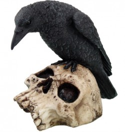 Picture of Raven On Skull Ornament