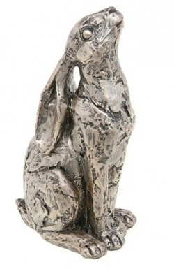 Picture of Champagne Bronze Moongazer Hare Sculpture 15 cm