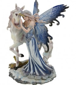 Picture of Fairy and Unicorn Figurine