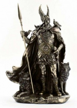 Picture of Odin Bronze Statue 27 cm