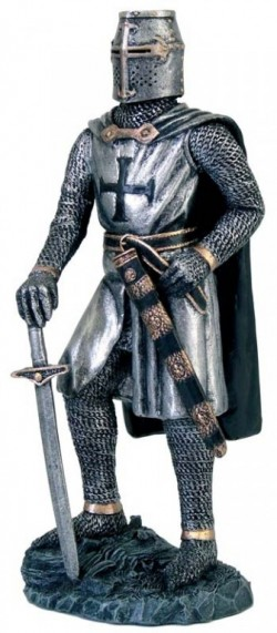 Picture of Knight Templar with Sword Figurine