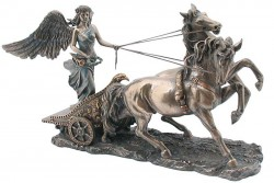 Picture of Nike in Chariot Figurine 31 cm
