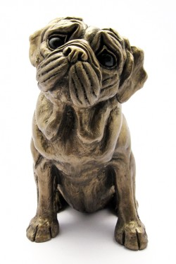 Picture of Pug Bronze Sculpture Harriet Dunn