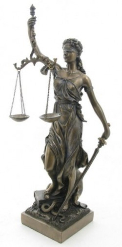 Picture of Lady Justice Bronze Figurine 33 cm