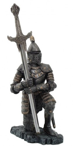 Picture of Kneeling Knight Letter Opener Holder (Letter Opener sword included)