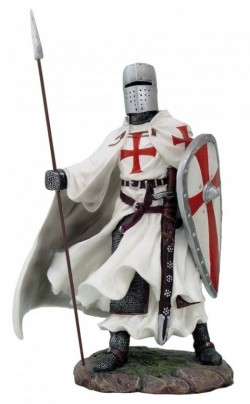 Picture of Templar with Spear and Kite Shield