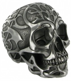 Picture of Tribal Skull Silver Medium