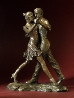 Picture of Tango The Walk Bronze Figurine