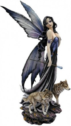 Picture of Lina and the Wolves Fairy Statue LARGE 59 cm