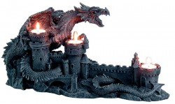 Picture of Dragon with Castle Candle Holder