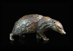 Picture of Badger Bronze Figurine (Limited Edition) Michael Simpson LAST FEW LEFT