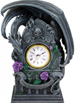 Picture of Dragon Beauty Figurine Clock (Anne Stokes)