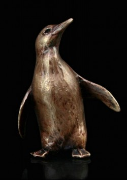 Picture of Penguin Standing Bronze Miniature (Butler and Peach)