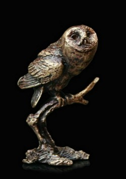 Picture of Tawny Owl Bronze Miniature (Butler and Peach)