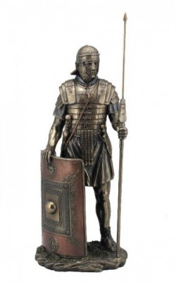 Picture of Roman Soldier Legionaire Bronze Figurine 36 cm