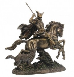 Picture of Odin on Eight Legged Horse Sleipnir Bronze Statue Large