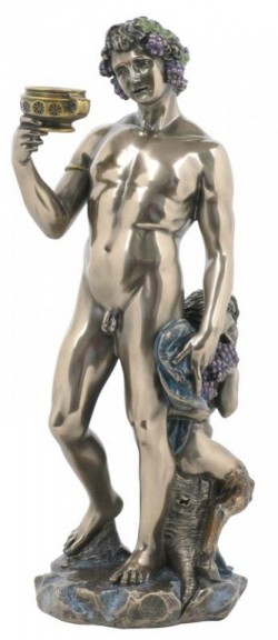 Picture of Bacchus God of Wine Bronze Statue