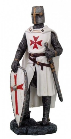 Picture of Maltese Knight with White Shield Figurine