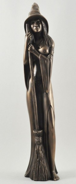 Picture of Tall Bronze Witch Figurine 44 cm