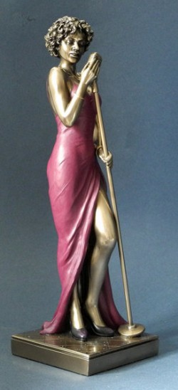 Picture of Lady Singer Jazz Bronze Figurine