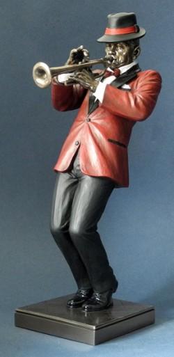 Picture of Trumpet Player Jazz Bronze Figurine