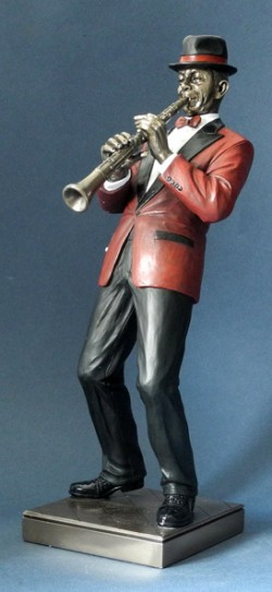 Picture of Clarinet Player Jazz Bronze Figurine