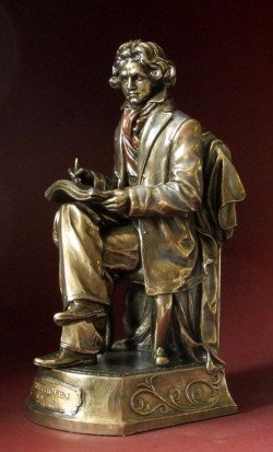 Picture of Beethoven Bronze Figurine