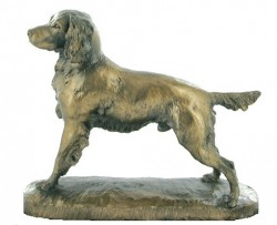 Picture of Springer Spaniel Bronze Dog Sculpture (David Geenty)