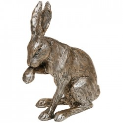 Picture of Champagne Bronze Hare Sitting Figurine