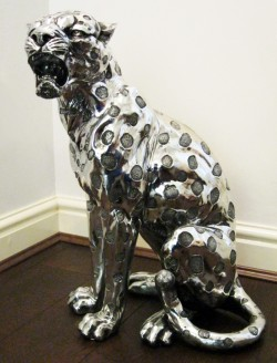 Picture of Silver Art Leopard Statue 52 cm