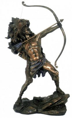 Picture of Heracles Shooting Arrow Bronze Figurine