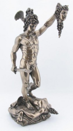 Picture of Perseus Holding the head of Medusa Bronze Figurine 34cm