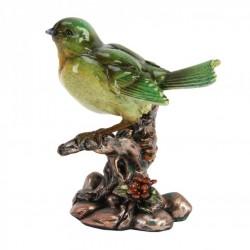 Picture of Green Bird on Branch Figurine Juliana