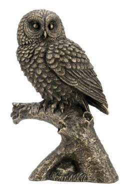Picture of Bronze Owl on Branch Figurine