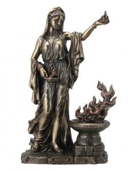 Picture of Hestia Virgin Goddess Bronze Figurine