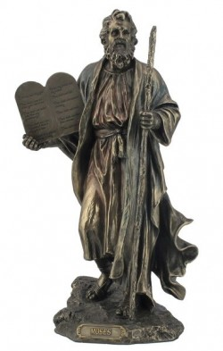 Picture of Moses Holding 10 Commandments Figurine