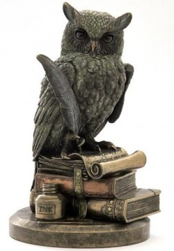 Picture of Wise Owl on Books Bronze Figurine 8.5 inches