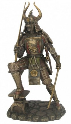 Picture of Samurai in Full Armour Bronze Figurine