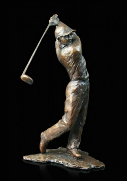 Picture of Golfer Bronze Figurine (Limited Edition) Michael Simpson NEW