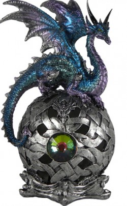 Picture of Eye Of Belgaroth Dragon on Orb LIGHT FEATURE Figurine (Alator) 21 cm