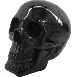 Picture of Black Gloss Skull Ornament