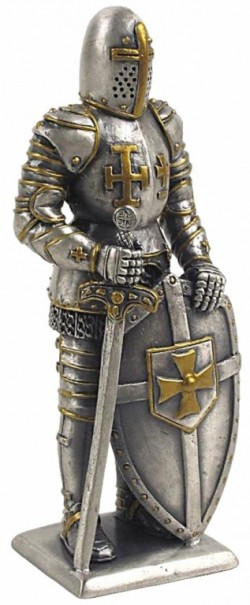 Picture of Medieval Knight with Sword and Shield Pewter Figurine