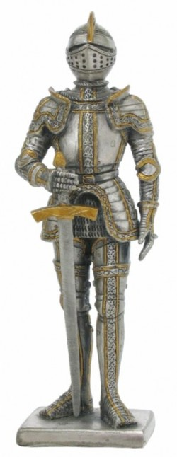 Picture of Knight with Great Sword Pewter Figurine